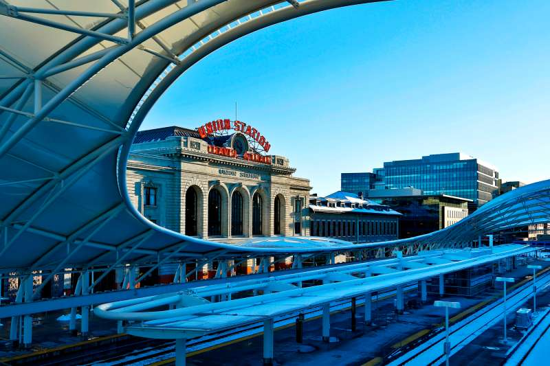Renovated Union Station, built in 1894, is home to trendy restaurants and a top hotel