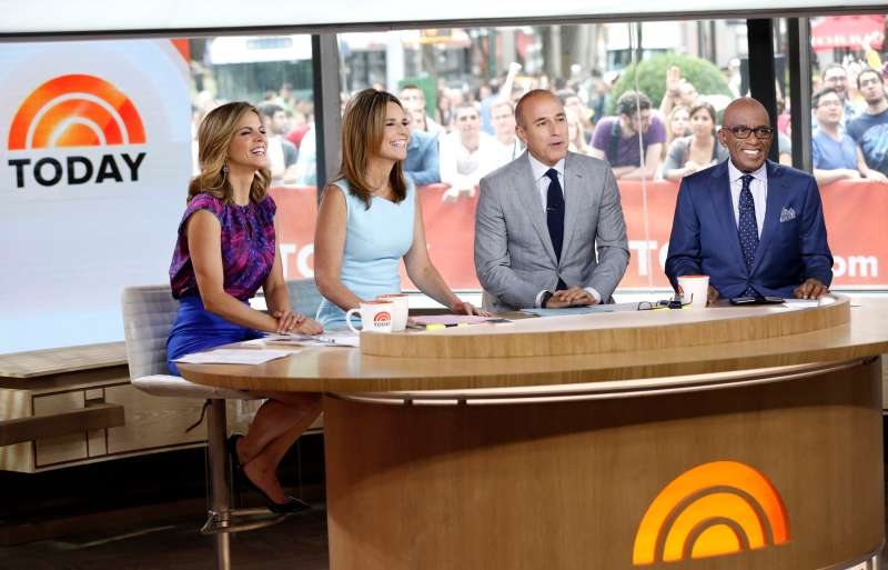 Natalie Morales, Savannah Guthrie, Matt Lauer and Al Roker appear on NBC News'  Today  show.