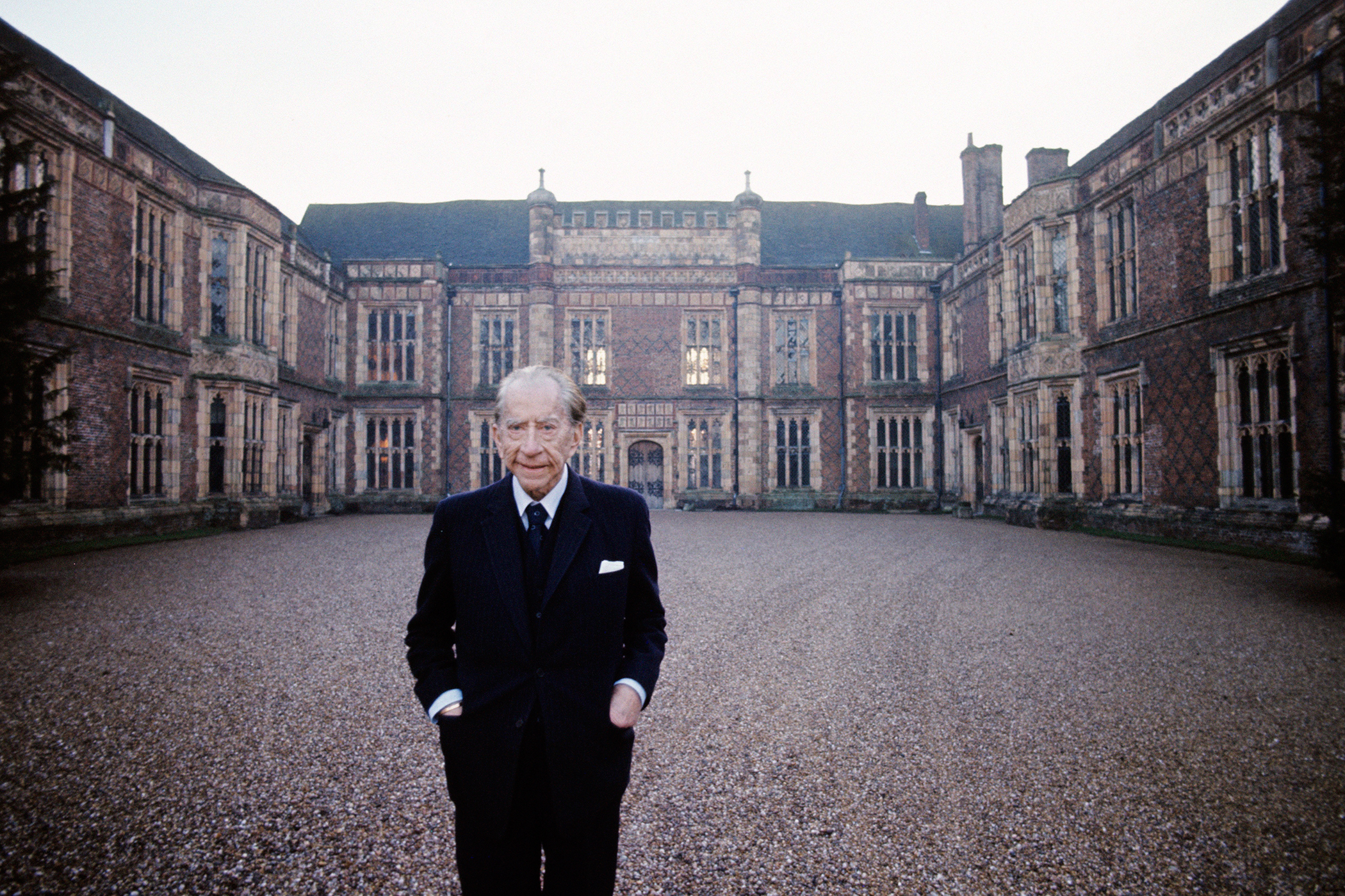 Anglo-American industrialist and billionaire Jean Paul Getty in his Sutton Place manor house, 3 miles from Guildford, in Surrey, England, January 1973.