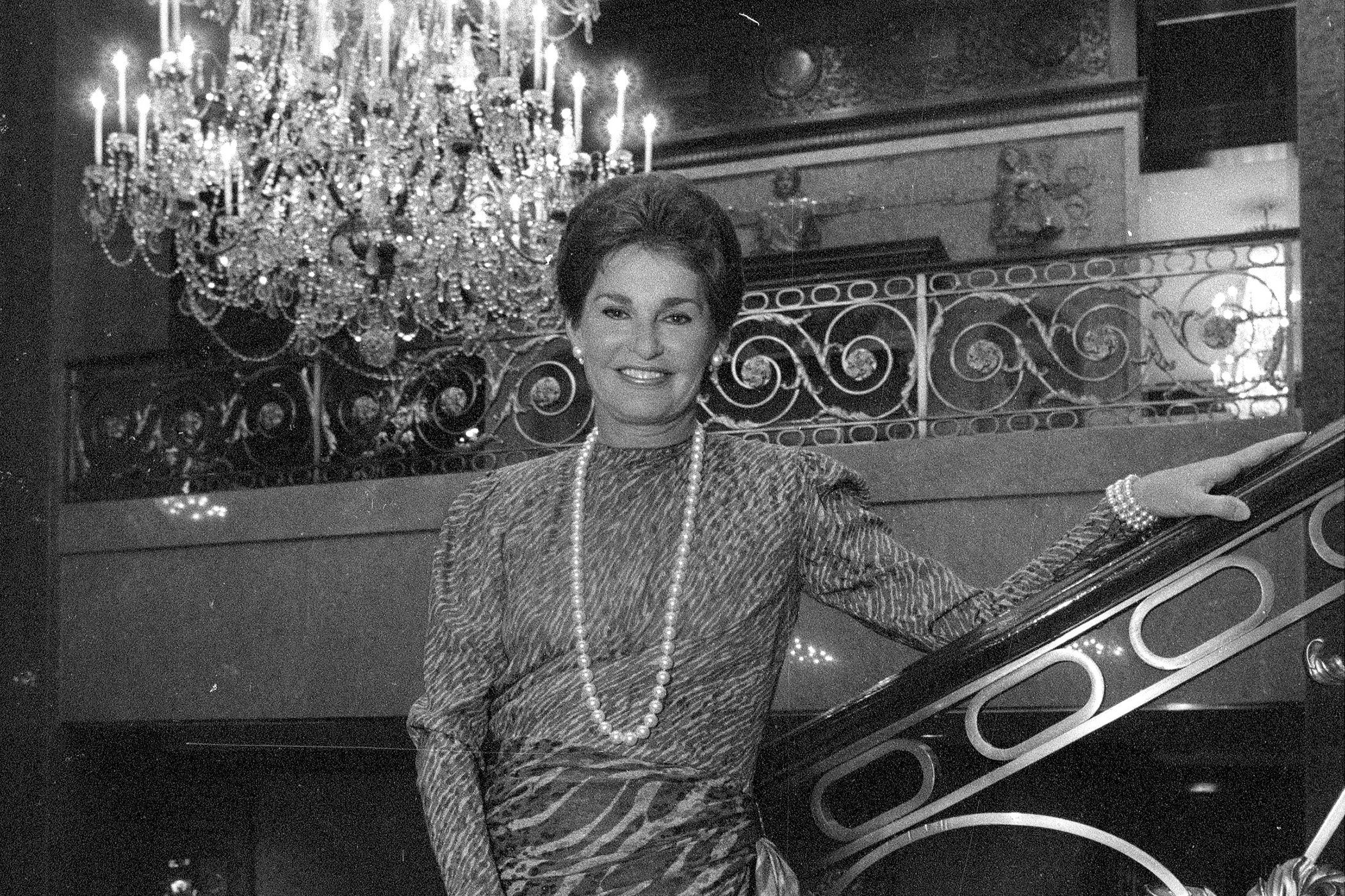 Leona Helmsley in The Helmsley palace, 50th Street and Madison Avenue, 2002.