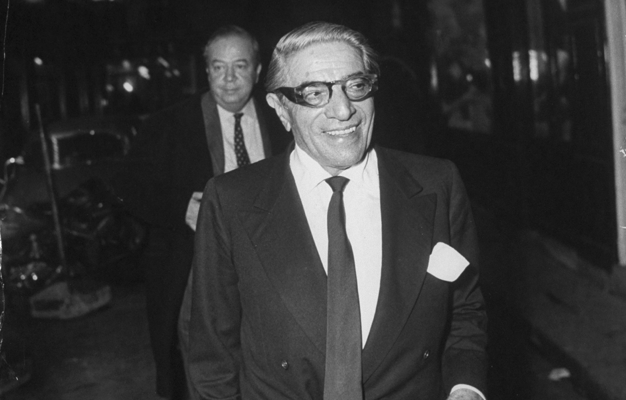Greek shipping tycoon Aristotle Onassis