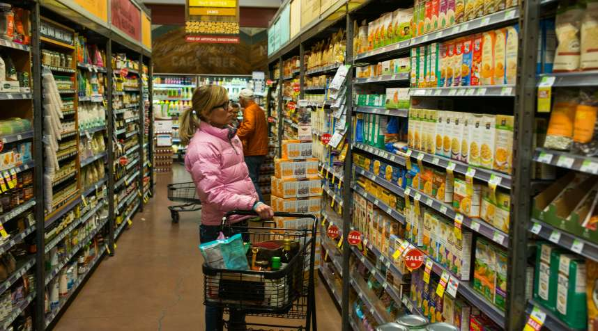 A woman shops at the Whole Foods store March 5, 2015 in Basalt, Colorado.