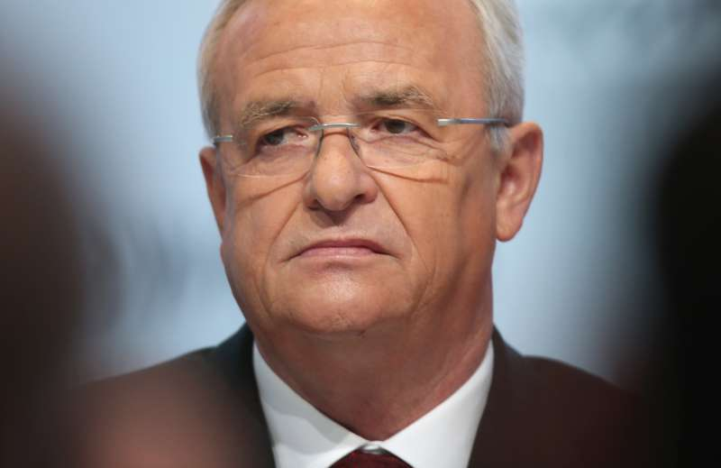 In this file photo Volkswagen CEO Martin Winterkorn attends the company's annual press conference in Wolfsburg, Germany, on March 13, 2014.