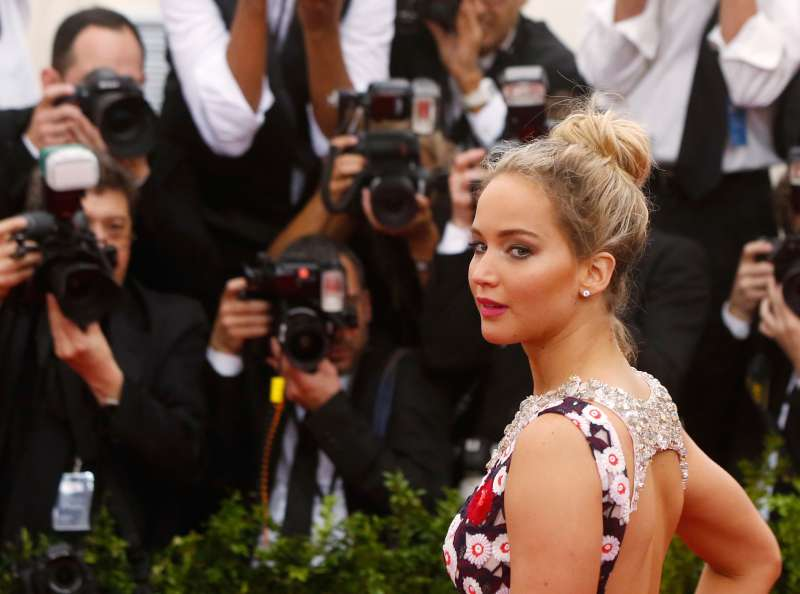 Actress Jennifer Lawrence arrives at the Metropolitan Museum of Art Costume Institute Gala 2015 celebrating the opening of  China: Through the Looking Glass,  in Manhattan, New York May 4, 2015.