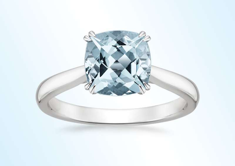 Aquamarine  Audrey  ring