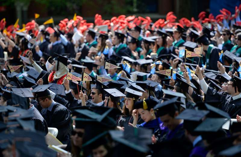 Yale University's Class of 2014 at commencement in New Haven, Conn. Connecticut is one of the state's with the highest average per-graduate debt.