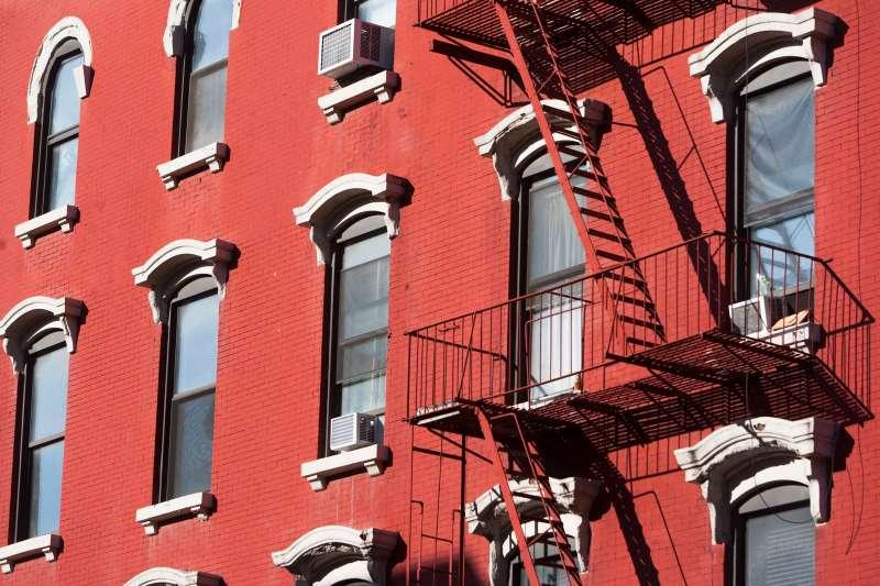 New York apartment building.