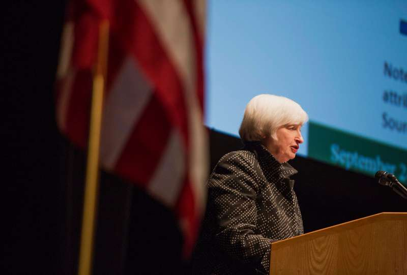 Federal Reserve Chair Janet Yellen Lectures On Inflation
