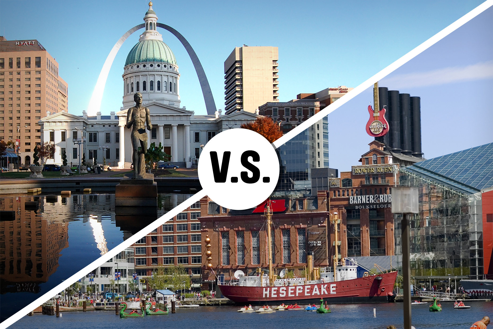 St. Louis, Missouri (top) and Baltimore, Maryland (bottom)