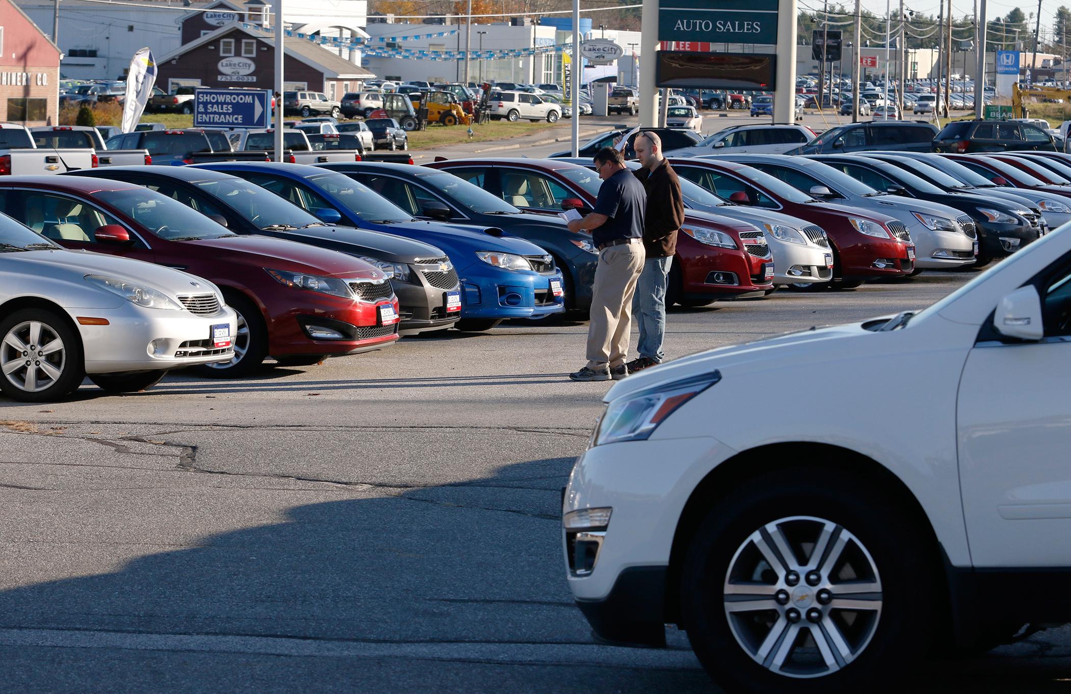 The Emerson Inc. car dealership is seen Wednesday, November 4, 2015 in Auburn, Maine.