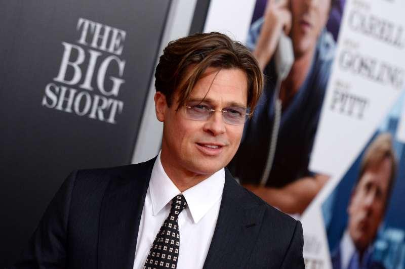 Brad Pitt attends  The Big Short  New York premiere at Ziegfeld Theater on November 23, 2015 in New York City.