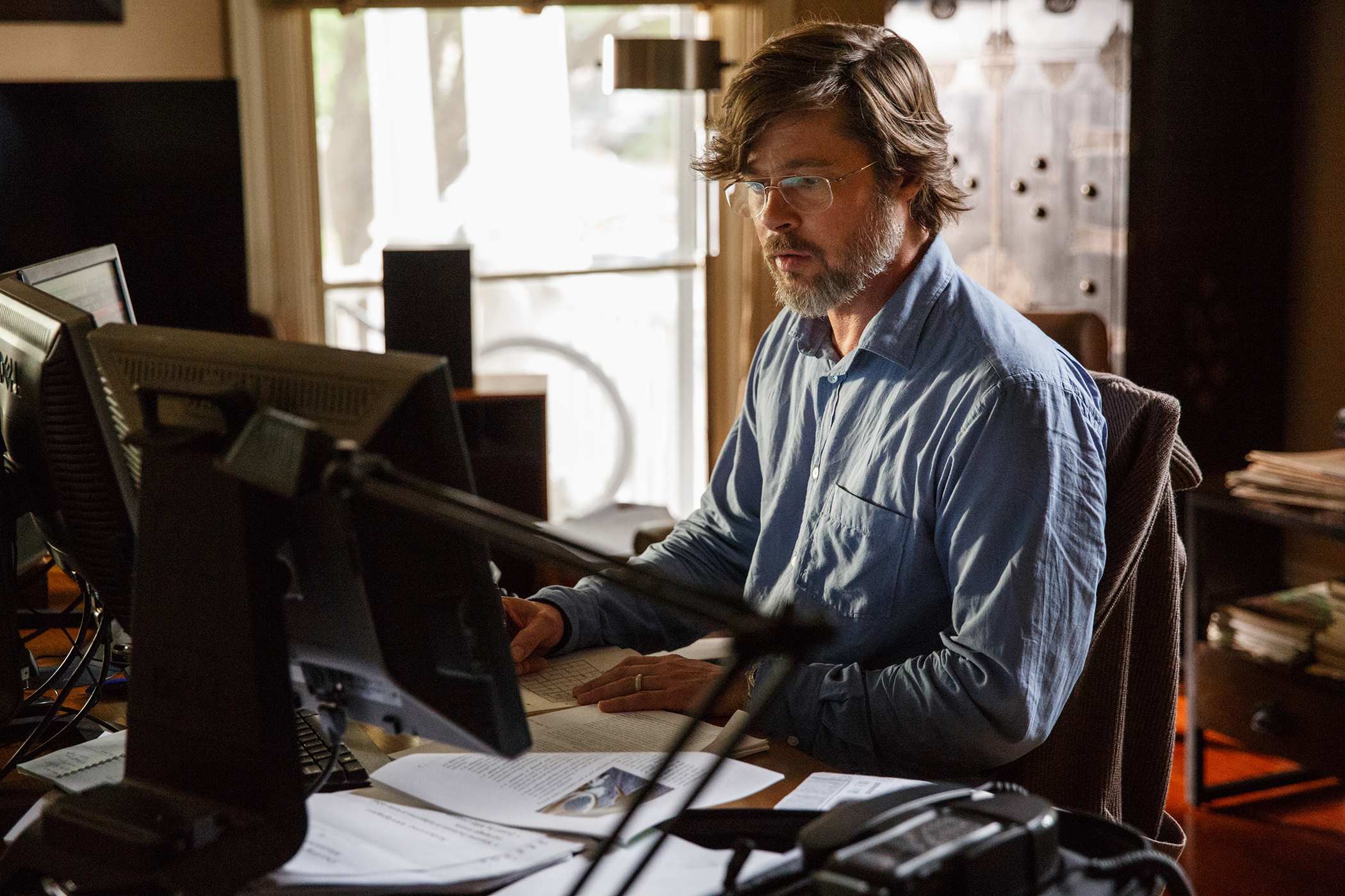 Brad Pitt plays Ben Rickert in The Big Short from  and Regency Enterprises