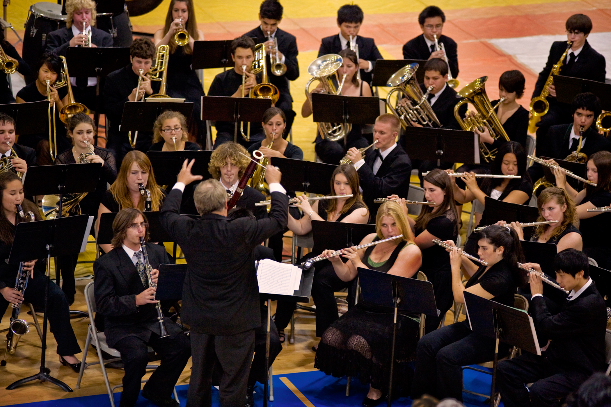 Many colleges look for applicants with a passion for a particular activity, like these high school musicians.