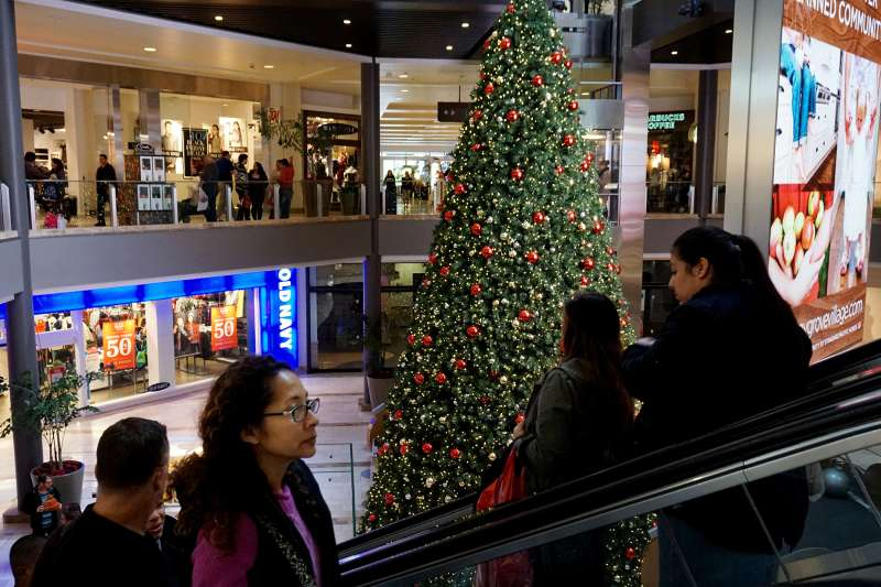 Shoppers visit the North County Fair Mall on November 27, 2015 in Escondido, California.