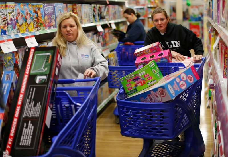 Shoppers at a Toys R  Us store in Atlanta.