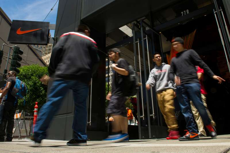 A Nike store in San Francisco.