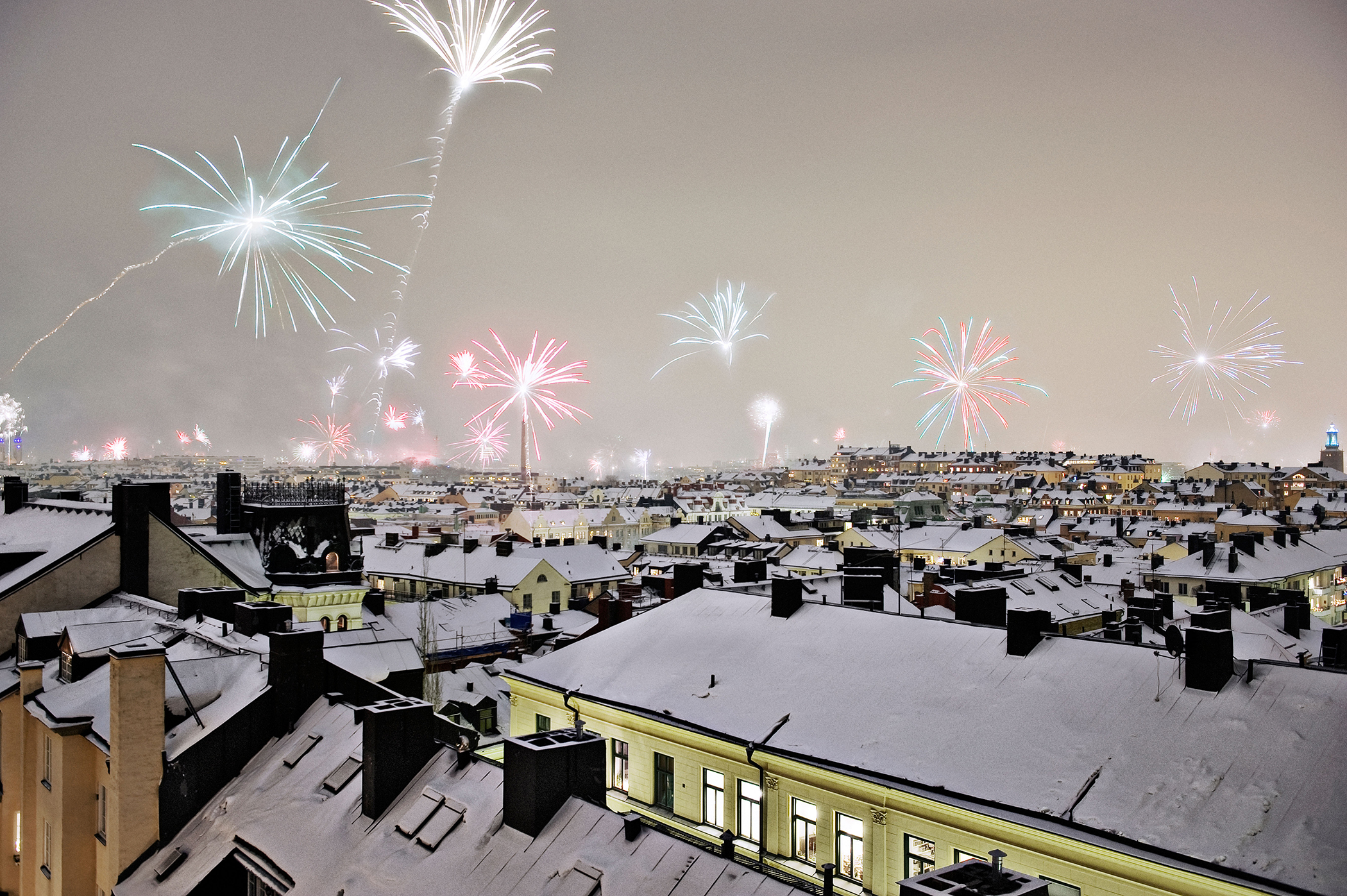 Stockholm on New Year's Eve