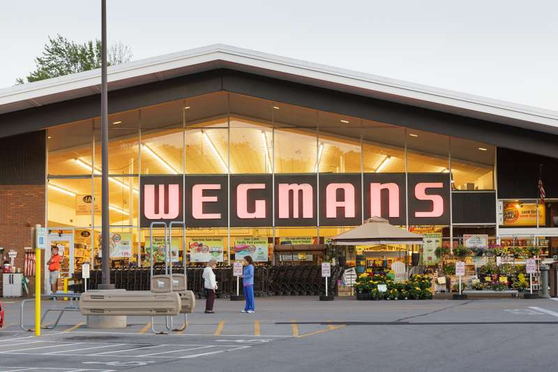 A vintage Wegmans grocery store, Fairport, New York State, Monroe County, 2015.