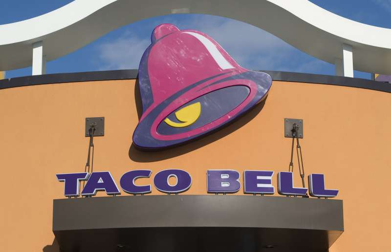 A Taco Bell fast food restaurant is seen in New Carrollton, Maryland, December 31, 2014.