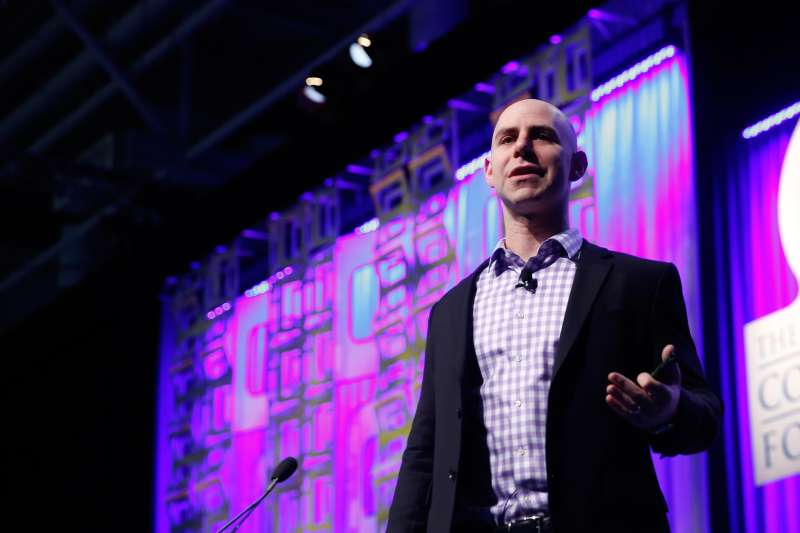 Adam Grant, a professor of management at Wharton School of Business, speaks at a conference in Boston, Mass. in December 2015.