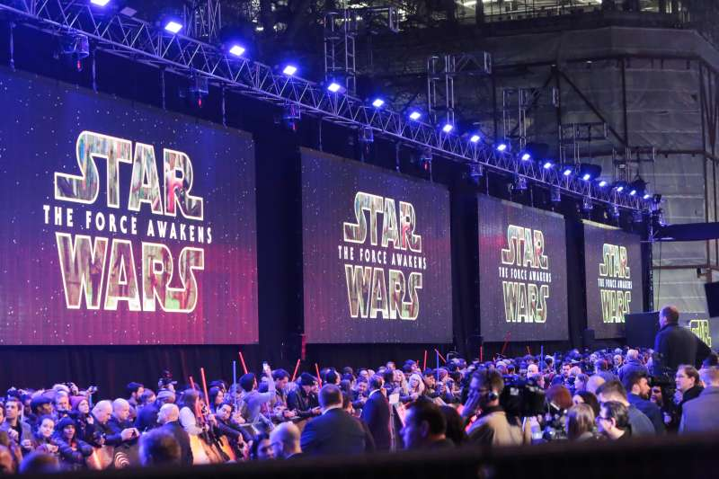 The European Premiere of  Star Wars: The Force Awakens  in London, England.