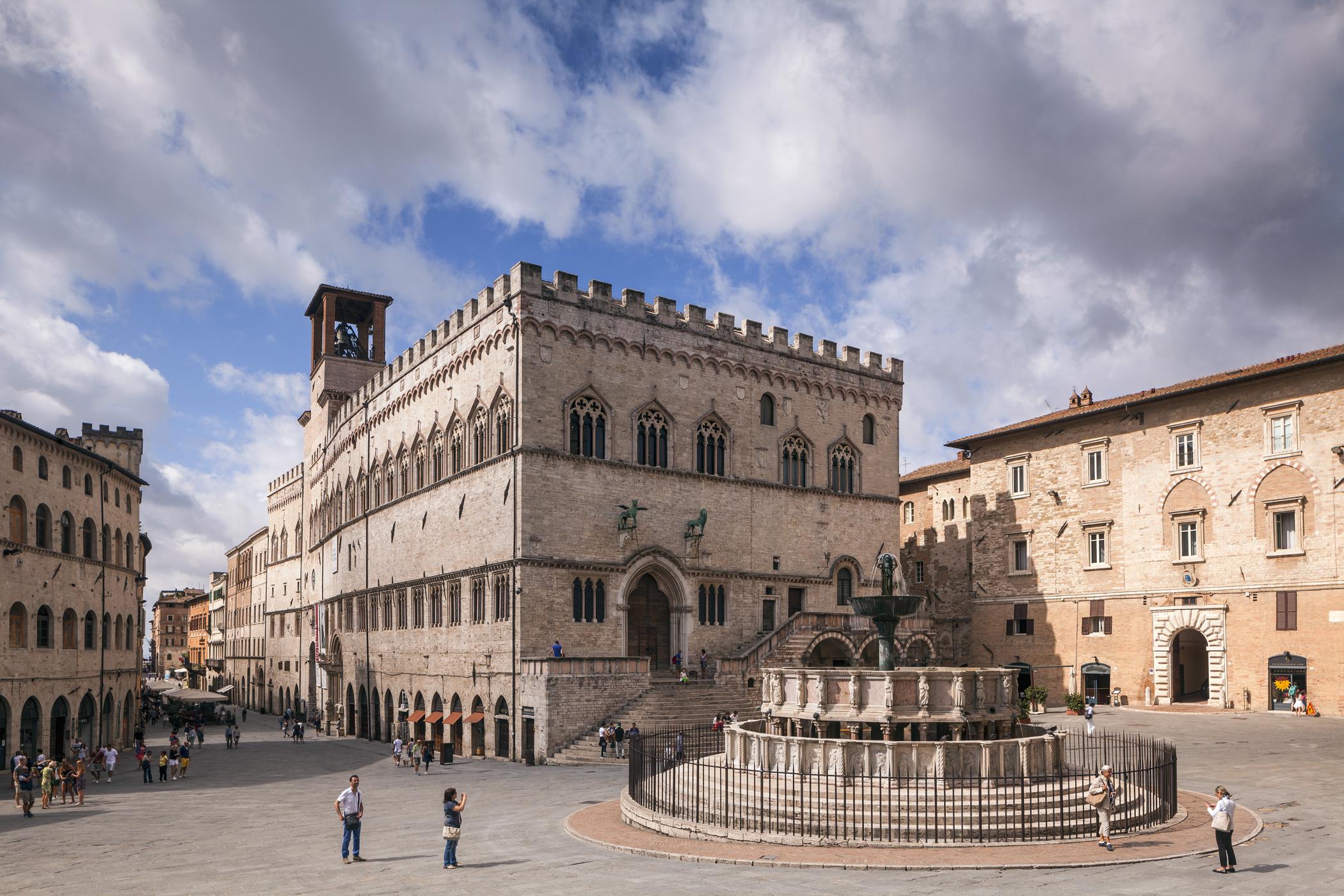 The Palazzo dei Priori in Perugia, Umbria