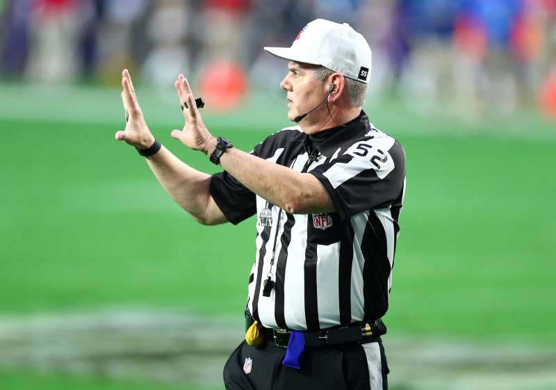 Referee Bill Vinovich in Super Bowl XLIX.