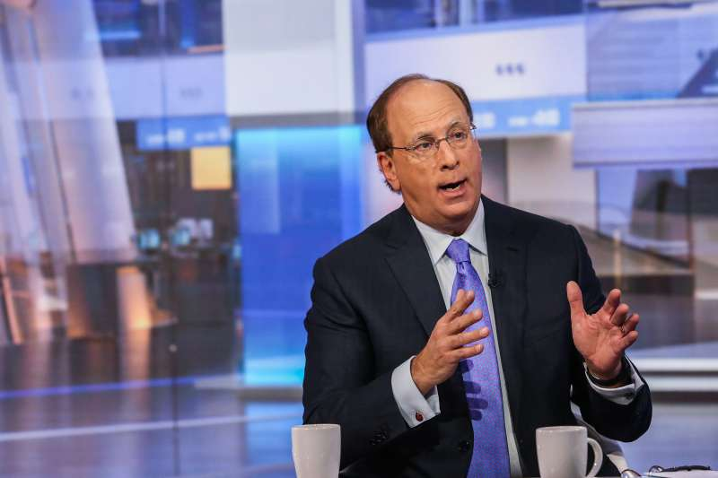Laurence  Larry  Fink, chairman and chief executive officer of BlackRock Inc., speaks during a Bloomberg Television interview in New York, U.S., on December 17, 2015.