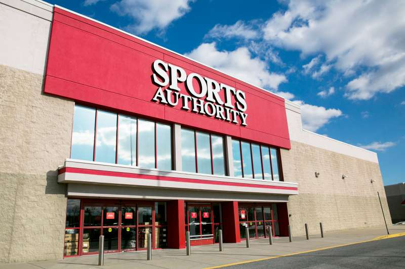 A Sports Authority retail store.
