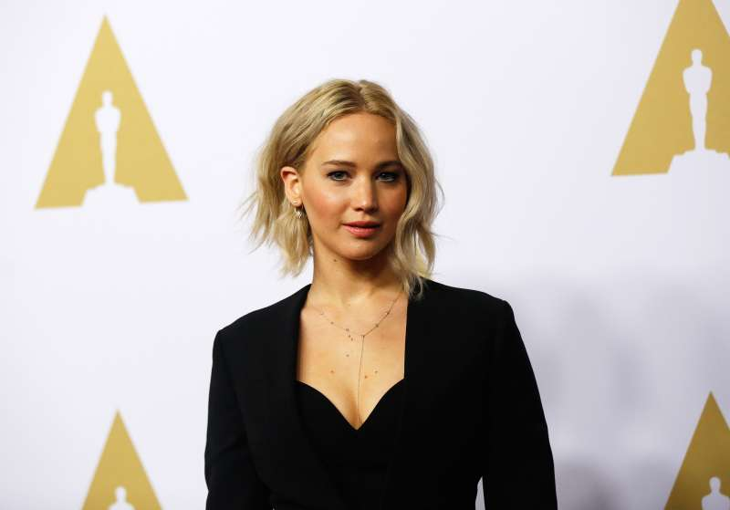 Actress Jennifer Lawrence arrives at the 88th Academy Awards nominees luncheon in Beverly Hills, California. February 8, 2016.