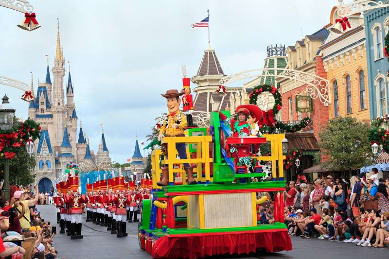 Christmas Parade at Disney's Magic Kingdom, Orlando