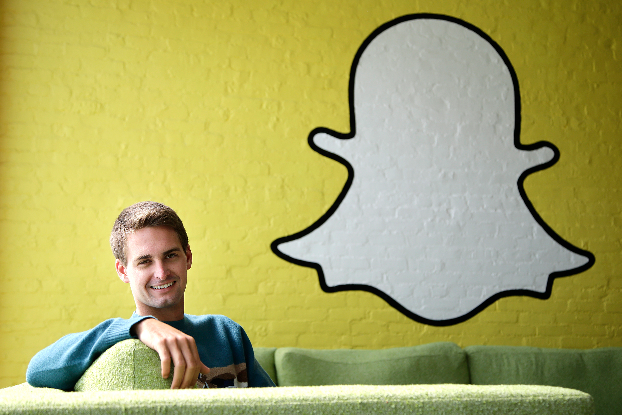 This October 24, 2013 file photo shows Snapchat CEO Evan Spiegel in Los Angeles.
