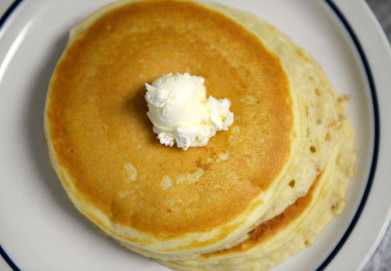 A plate of pancakes are ready for a customer during National Pancake Day at IHOP in Denver, Tuesday, March 4, 2014.