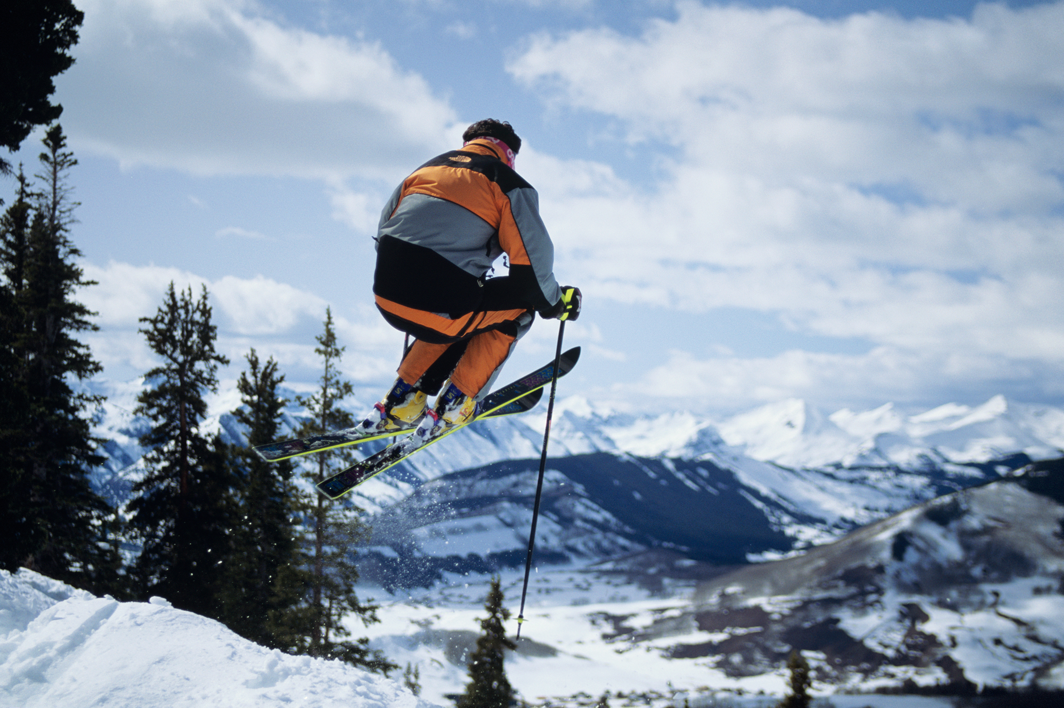 Skier in mid-air, Crested Butte, Colorado