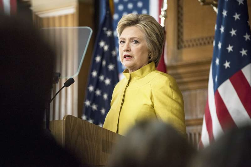 Hillary Clinton, former Secretary of State and 2016 Democratic presidential candidate, speaks during an event at Stanford University in Stanford, California, U.S., on Wednesday, March 23, 2016.