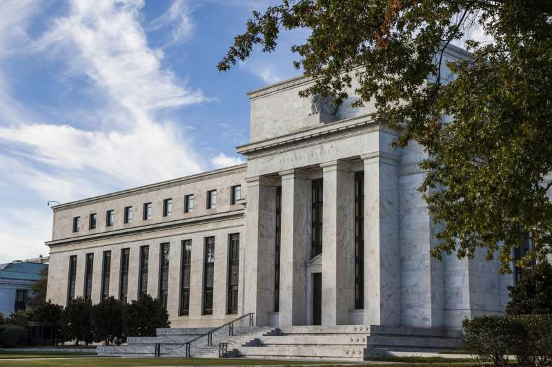 A general view of the Federal Reserve Building in Washington, United States on October 27, 2014.