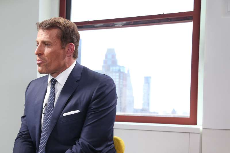 Tony Robbins is interviewed as part of the  LinkedIn Presents  series at The Empire State Building on October 5, 2015 in New York City.
