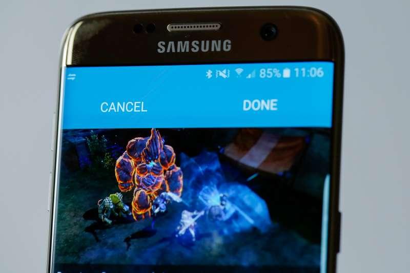 The new Samsung Galaxy S7.