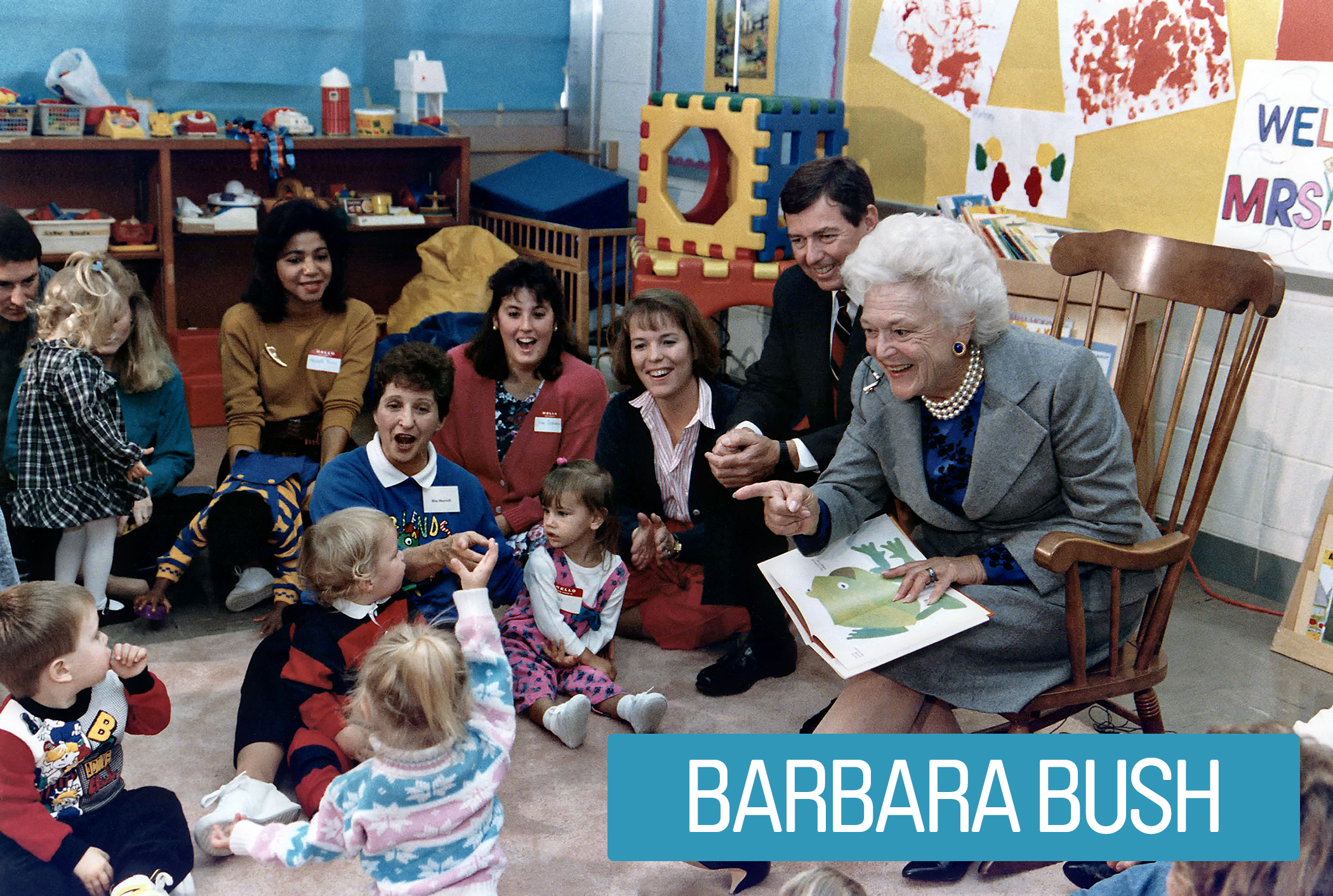 First Lady Barbara Bush sought to reduce illiteracy in America. She tapped a wide network and established her own grant-soliciting foundation to fund literary programs.  She saw problems like unemployment, homelessness and crime as being rooted in illiteracy. She even started her own radio story time for kids.