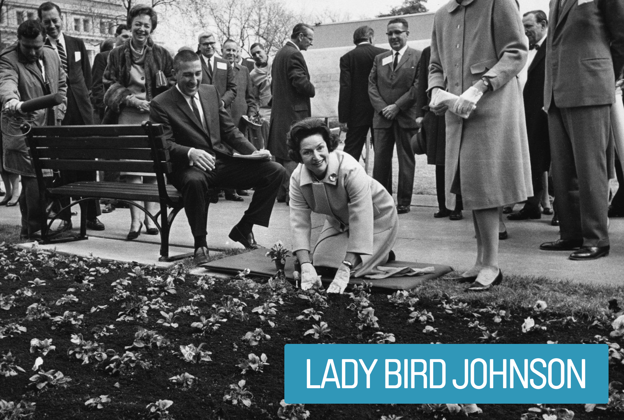 "Lady Bird Johnson's focus was her ""Beautification"" initiative. The effort included urban landscaping and development of the mall in the nation's capitol, preservation and conservation efforts in the national parks, anti-pollution campaigns and  environmental legislation."