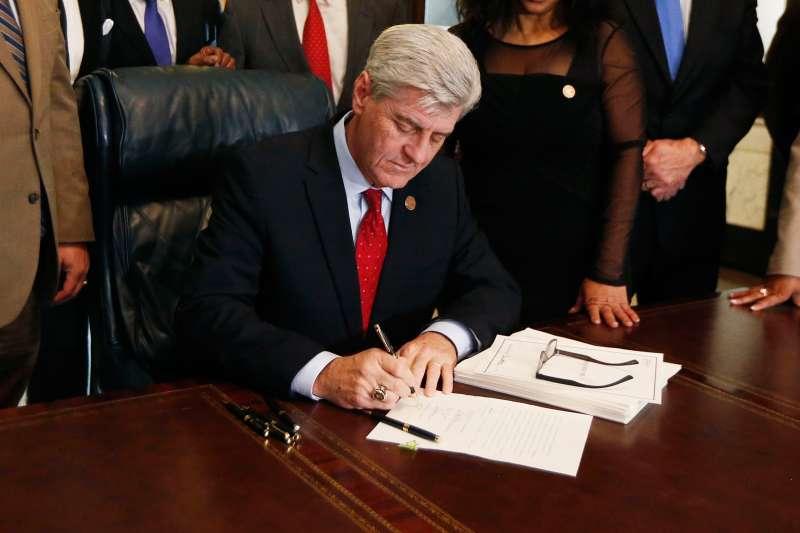 Mississippi Gov. Phil Bryant at the Capitol in Jackson, Mississippi, February 8, 2016.