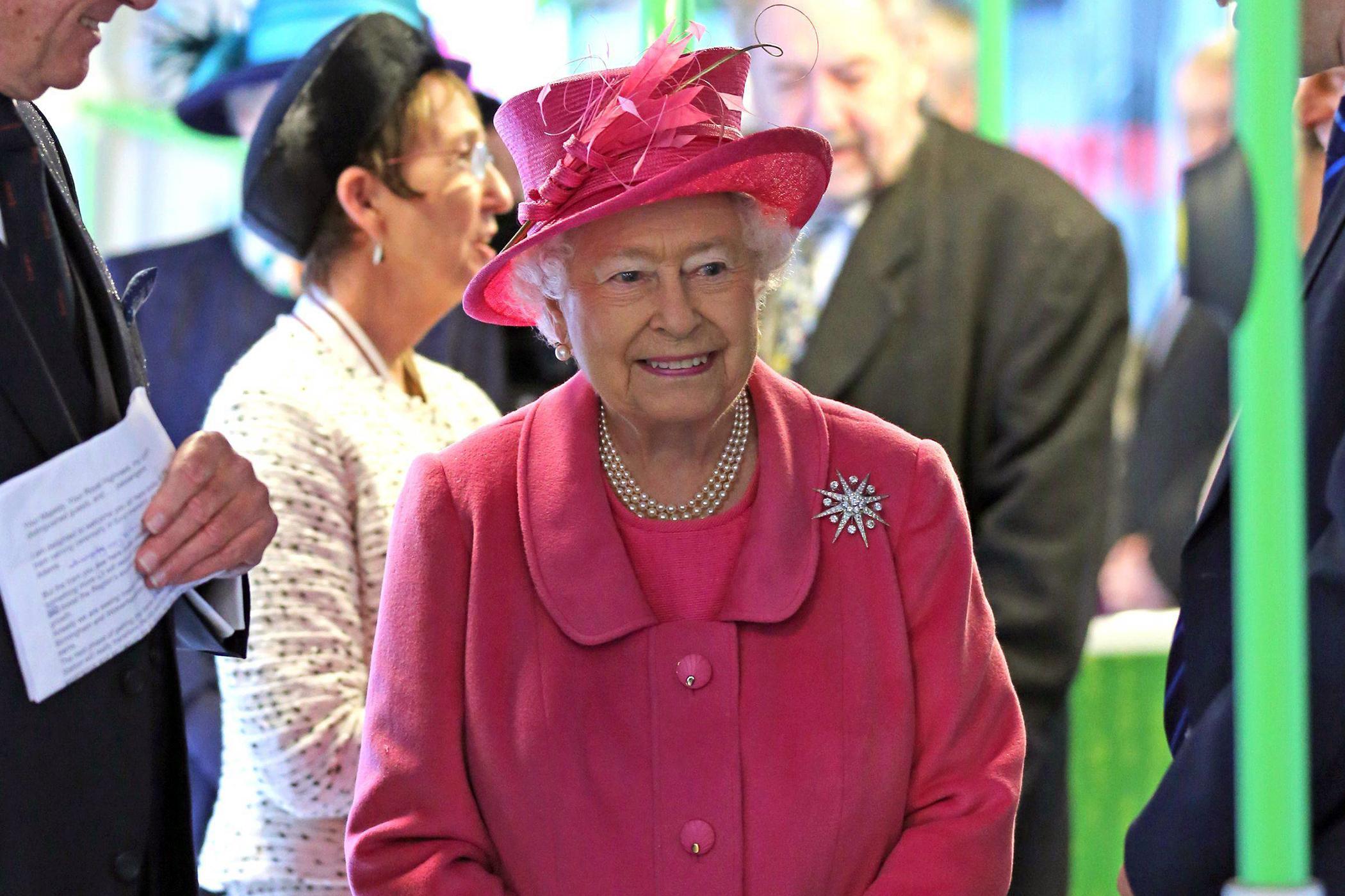 Queen Elizabeth visits the Metroline Tramline Extension in Birmingham, November 19, 2015