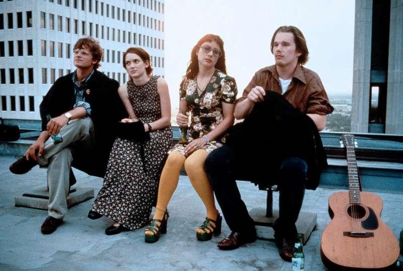 Steve Zahn, Winona Ryder, Janaeane Garafolo and Ethan Hawke in REALITY BITES (1994)