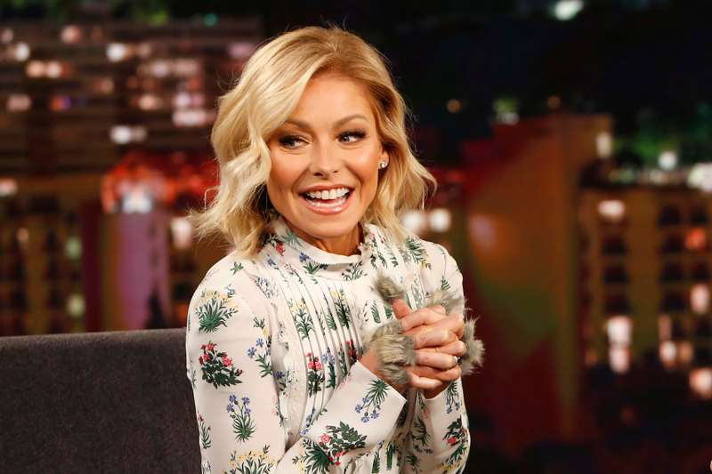 Kelly Ripa ( LIVE with Kelly and Michael ) appears on Jimmy Kimmel Live on Thursday, February 25, 2016.