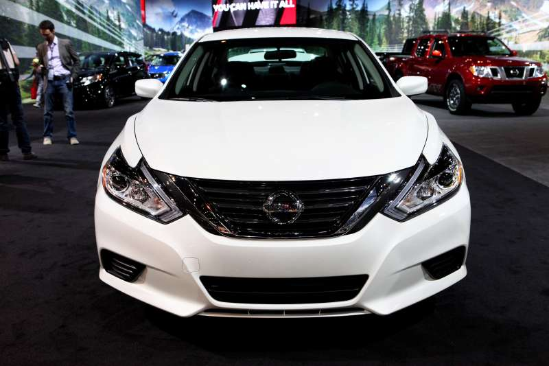 Nissan Altima is on display at the 108th Annual Chicago Auto Show at McCormick Place in Chicago, Illinois on February 12, 2016.