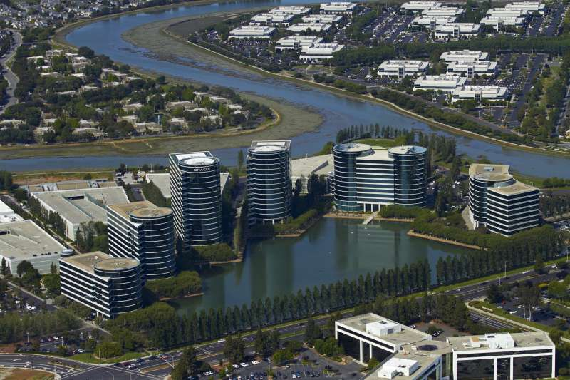 The Oracle campus in Redwood City, California.
