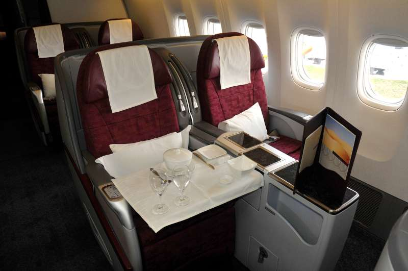 Qatar Airlines first class section