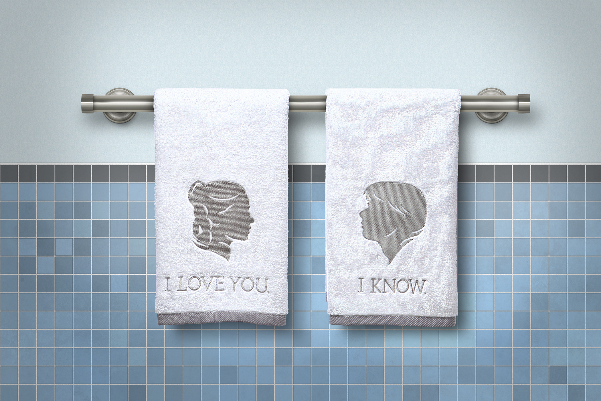 Han Solo and Princess Leia Hand Towels