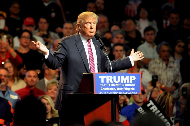 Republican U.S. presidential candidate Donald Trump speaks to supporters in Charleston, West Virginia, U.S. May 5, 2016.