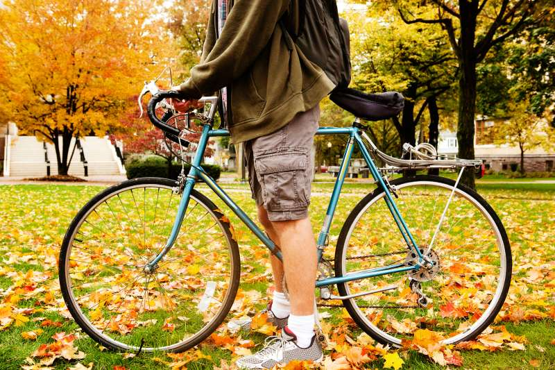 Bikes are big on most campuses, but check on sharing programs before you buy.